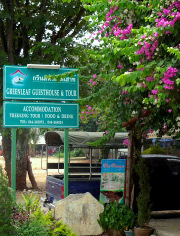 Sign in Front of Guesthouse